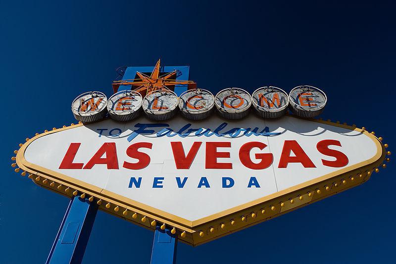 The world famous Las Vegas sign.