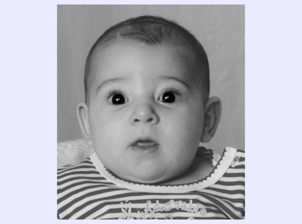 Baby passport photo