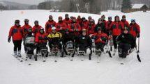 Adaptive skiing class