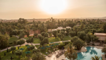 Club Med la Palmeraie outside Marrakech, Morocco, at dusk
