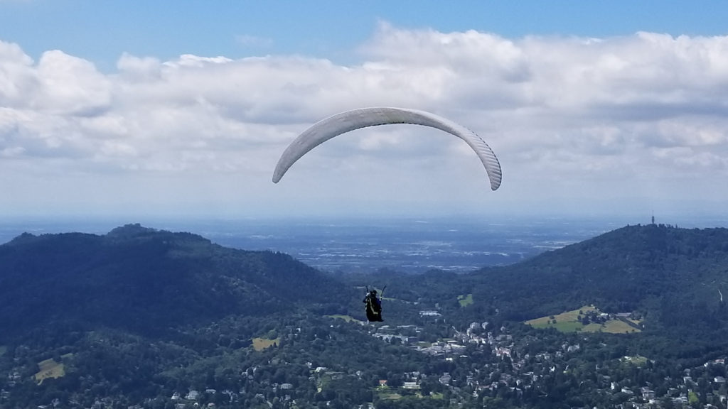 Paragliding over Baden-Baden and the surrounding Black Forest