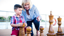 Playing chess on the sundeck of a Uniworld river cruise is fun for all ages. Photo c. Uniworld