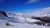 Snowboarding at Serre Chevalier.