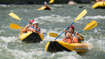 Raft the Gates of Ladore rapids with your kids
