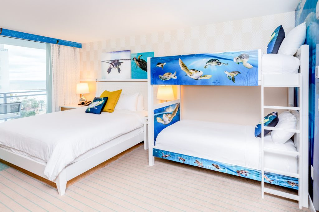 Wyndham Grand themed rooms feature marinelife