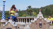 A miniature rendition of Parc Guell, in Barcelona seen at Catalunya en Miniatura
