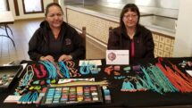 Navajo artisans display their jewerly in Gallup, New Mexico.