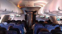 Vrigin America plane cabin