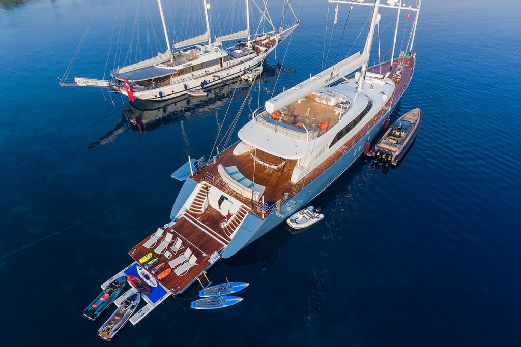 All About You yacht with watersports gear