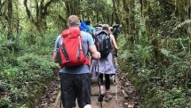 Preparatory hike in Moshi region of Tanzania.