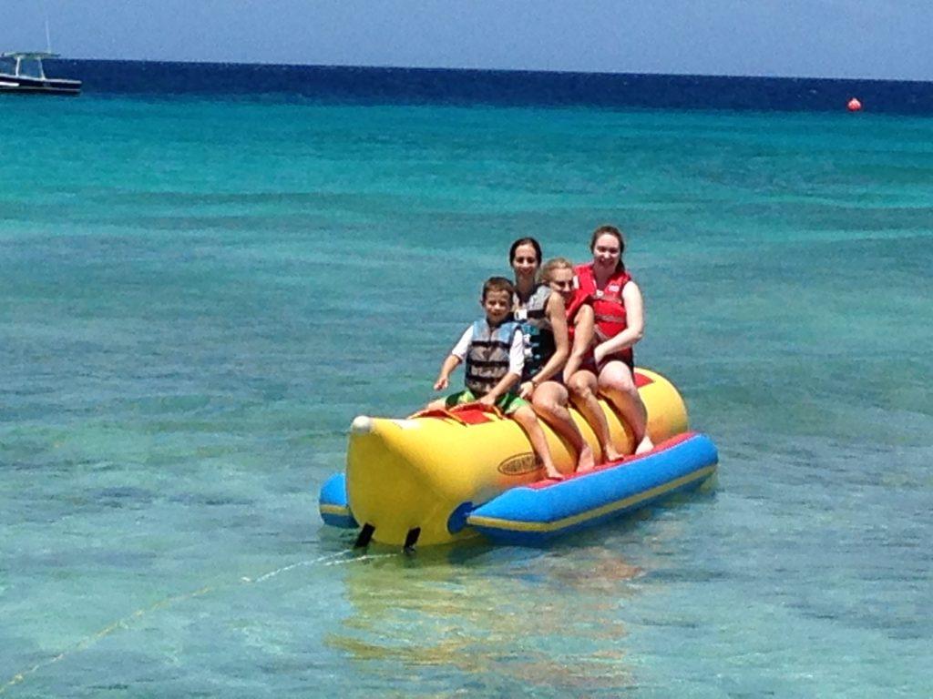 Ride a banana boat