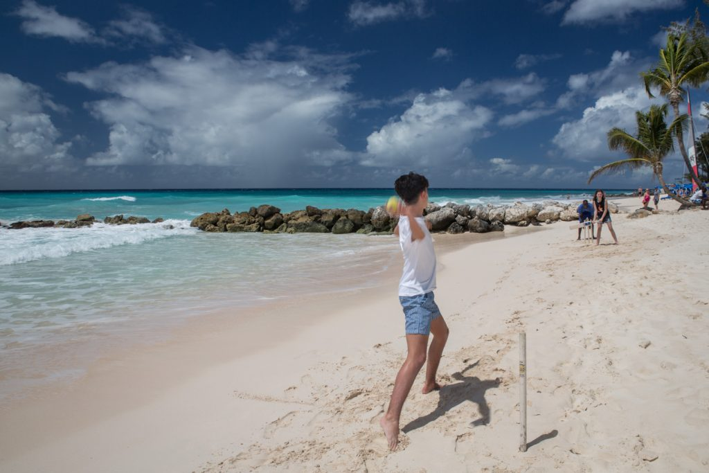 Learn to play cricket on the beach