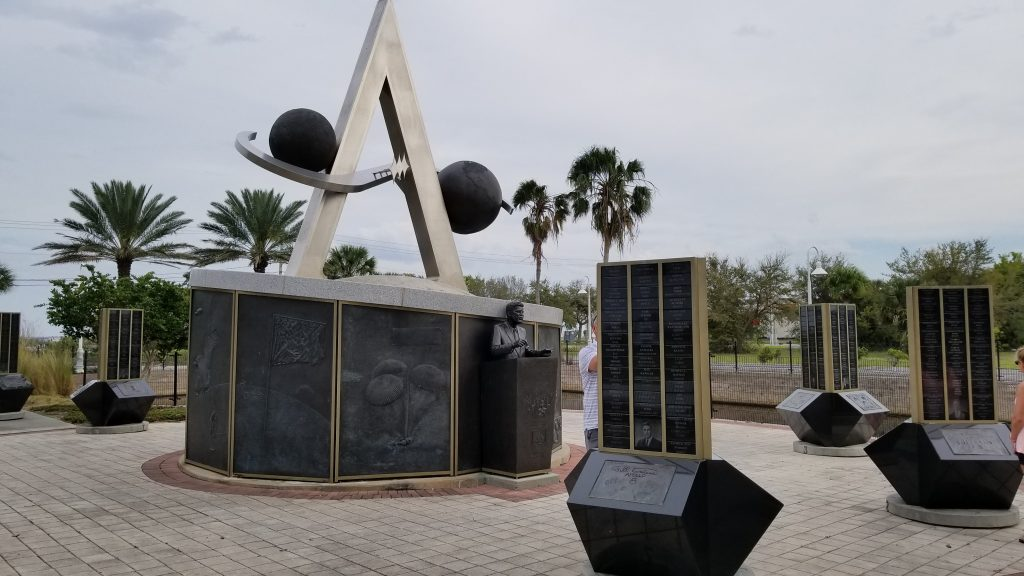 Test out your handprints against your space hero at the Space Walk of Fame in Titusville.