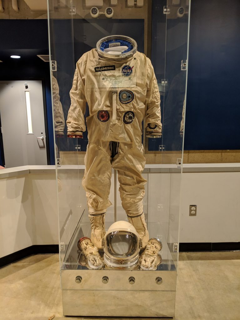 Neil Armstrong's space suit at Ohio's Armstrong Air & Space Museum.