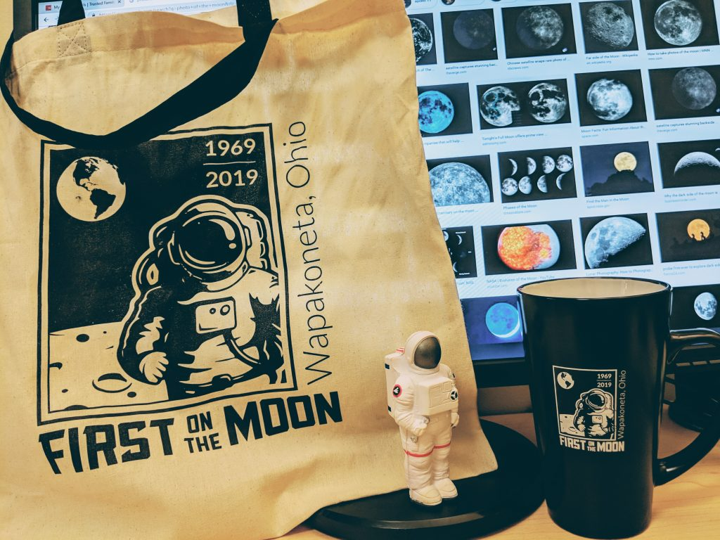 First on the Moon memorabilia from Wapakoneta, Ohio.