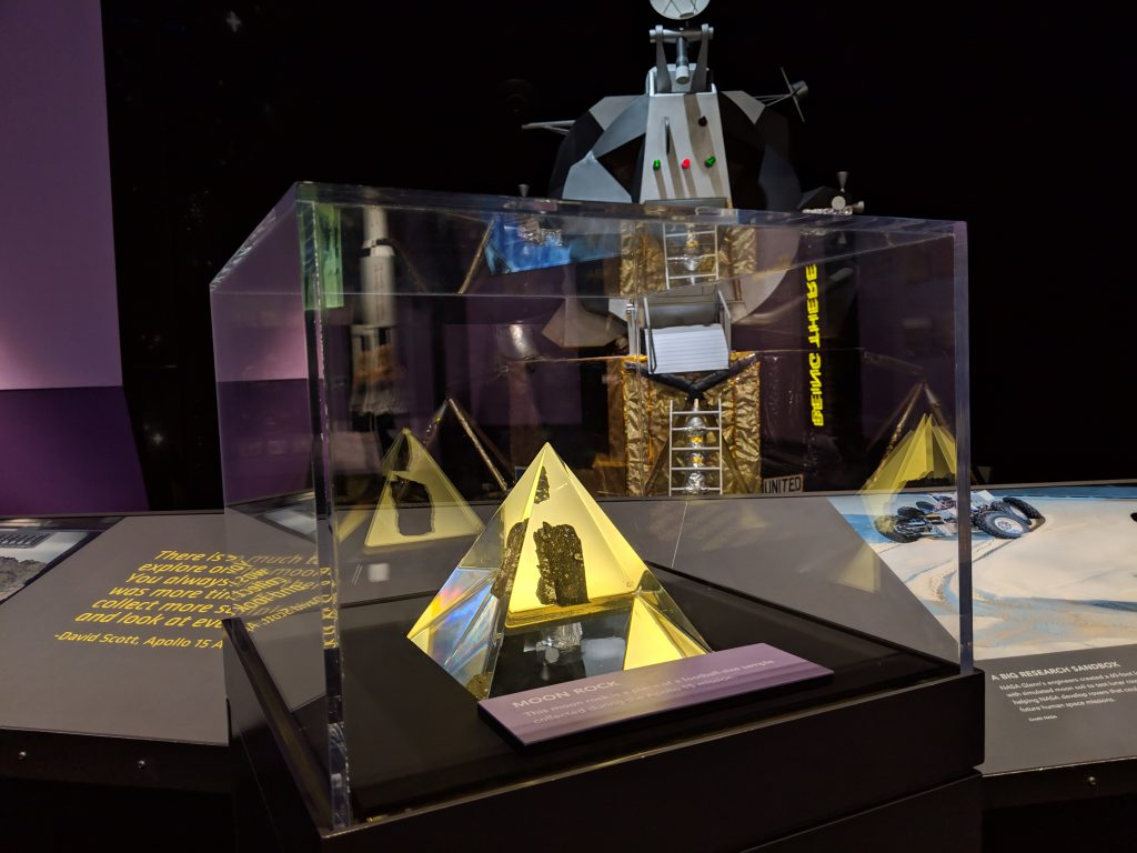 A moon walk on display at the NASA/Glenn Research Center at Great Lakes Science Center, Cleveland, Ohio.