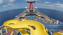 Twister slide on Carnival Sunrise's Waterworks Pool Deck