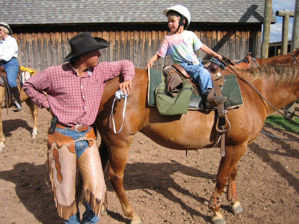 Horseback riding at Laramie River Ranch