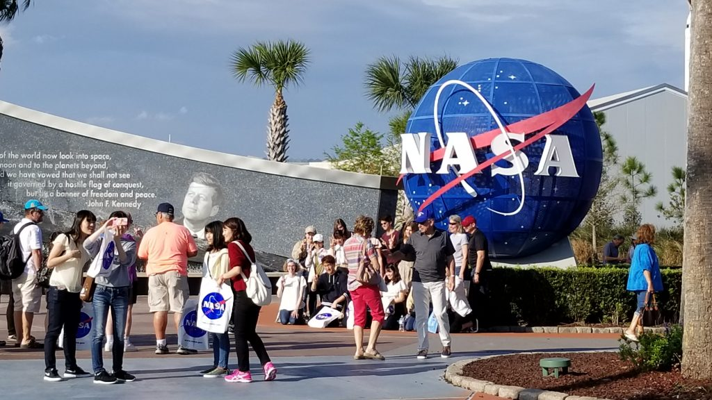 entry to Kennedy Space Center, Florida