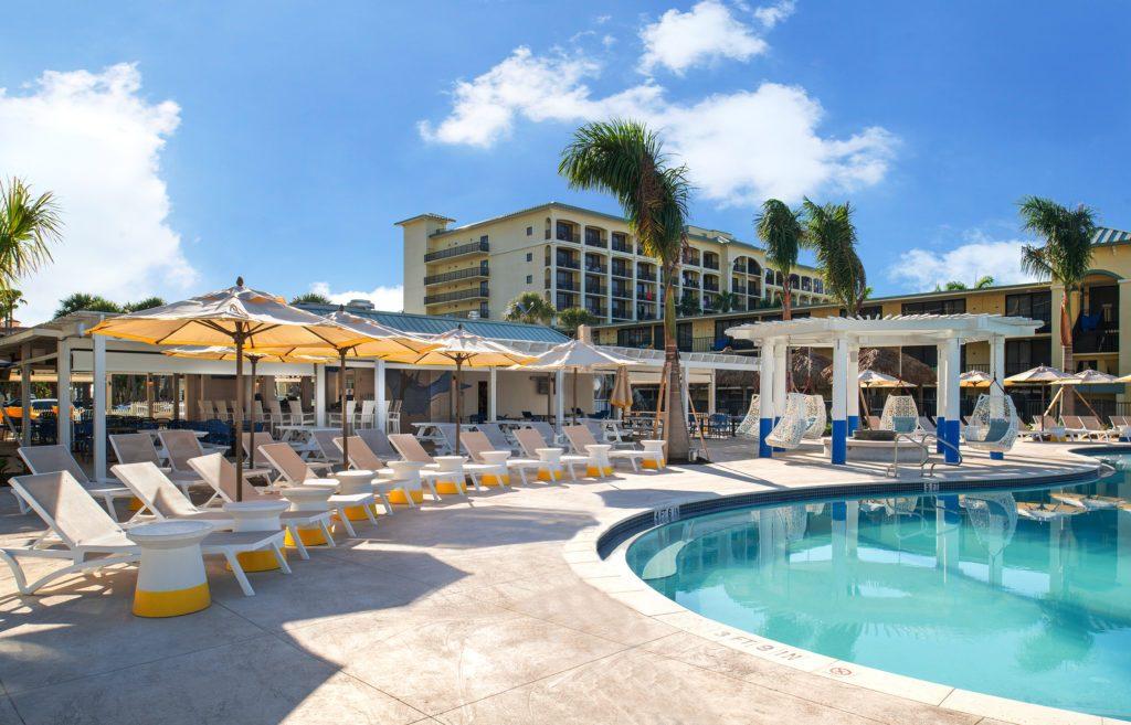 poolside bar and grill at Sirata Beach Resort