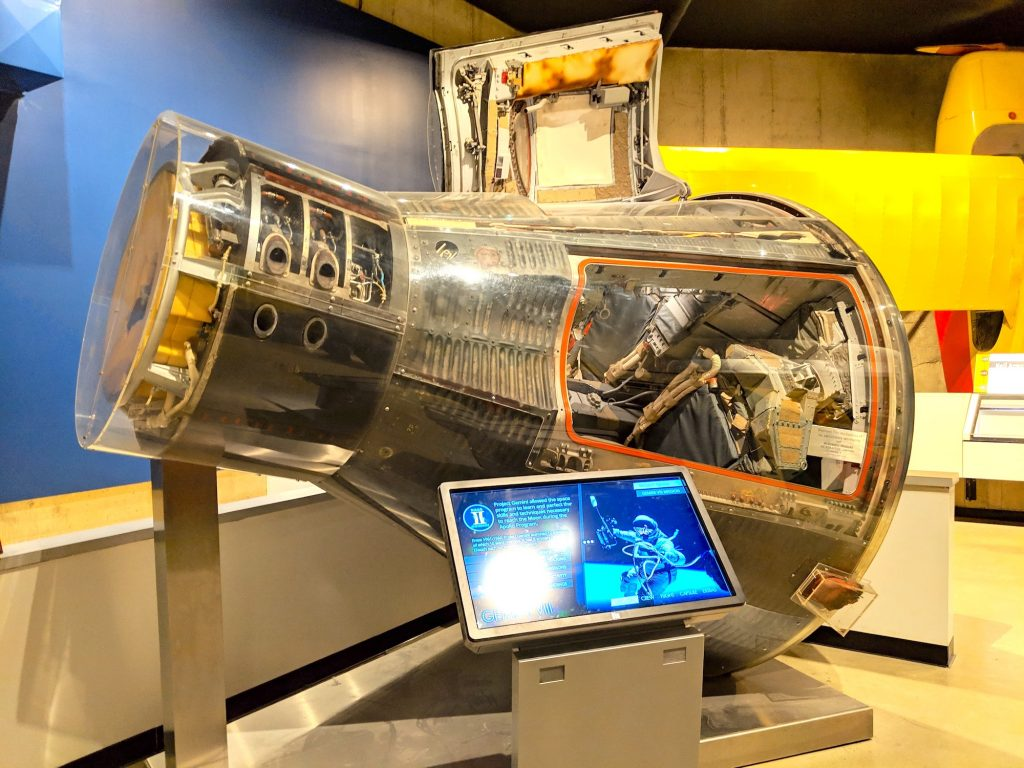 The Gemini VIII capsule that astronaut Neil Armstrong flew