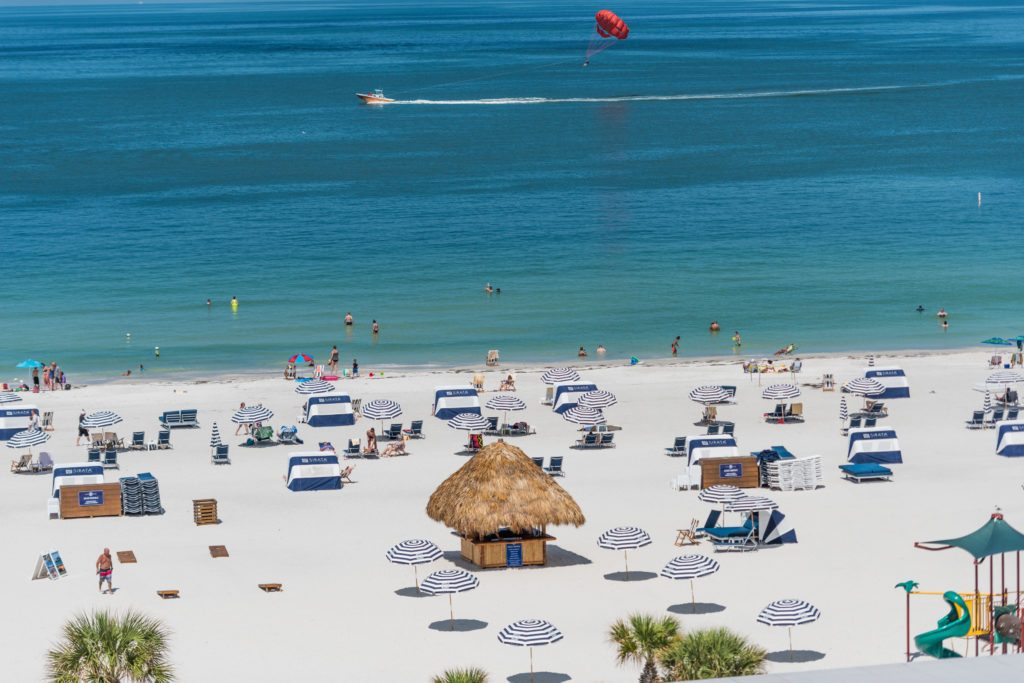 View of St. Pete Beach and Gulf of Mexico