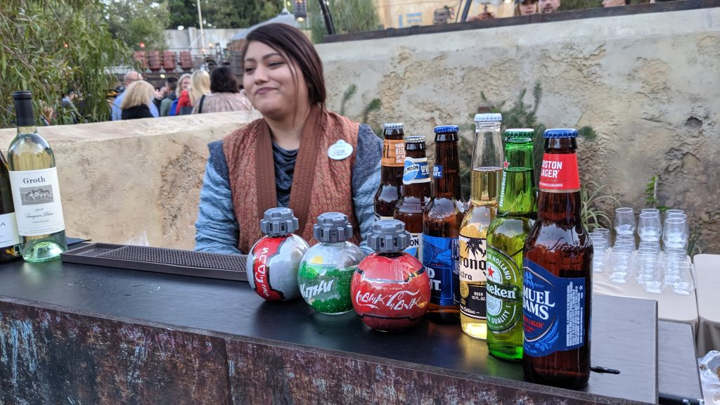 Aurebesh labels on Coca-Cola products sold on Batuu.