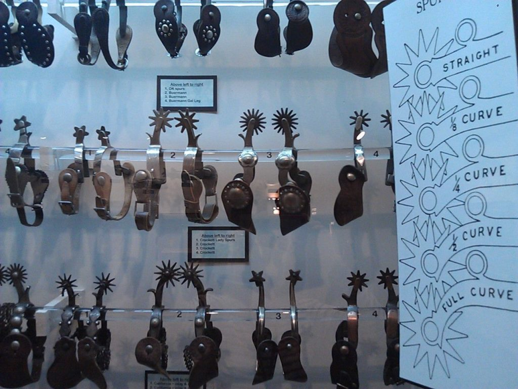 Spurs are one of the many cowboy essentials sold in downtown Cheyenne shops.