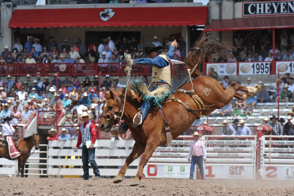 Rodeo action is non-stop. Photo by Bree Anderson, c.Cheyenne Frontier Days.