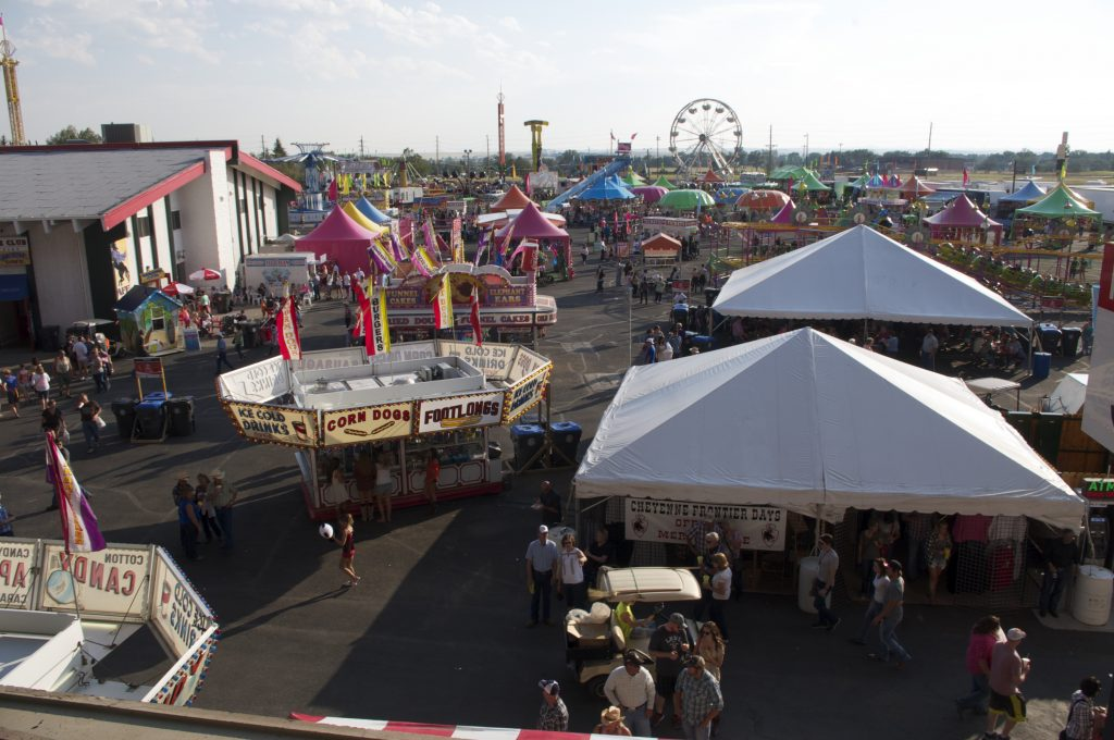 There's a fun midway at the Cheyenne Frontier Days Carnival