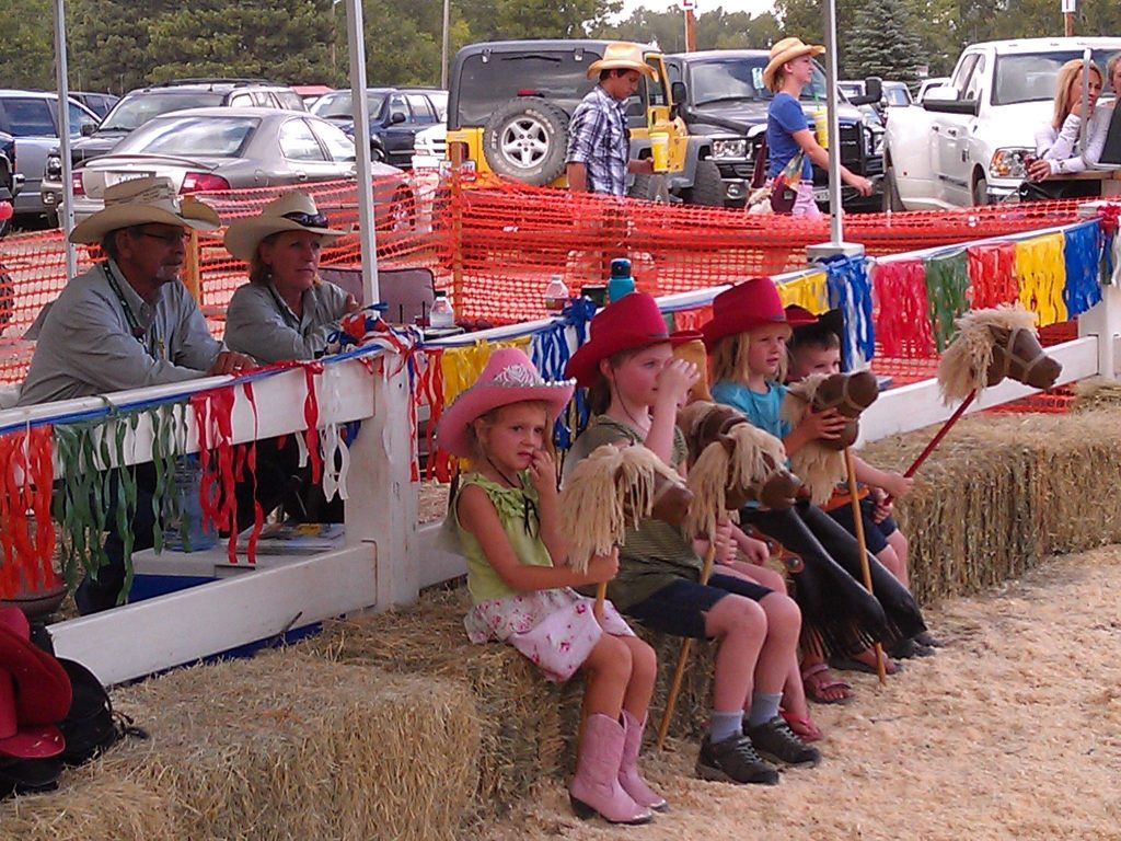 Watching the action at the Kids Corral at Cheyenne Frontier Days.