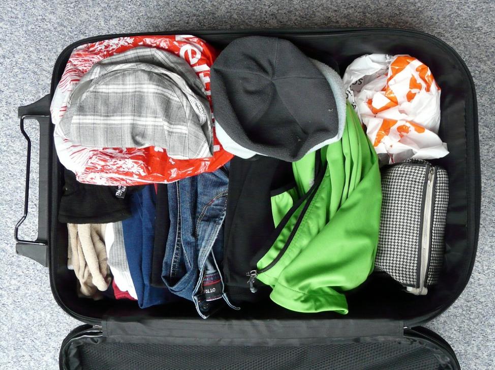 organized suitcase