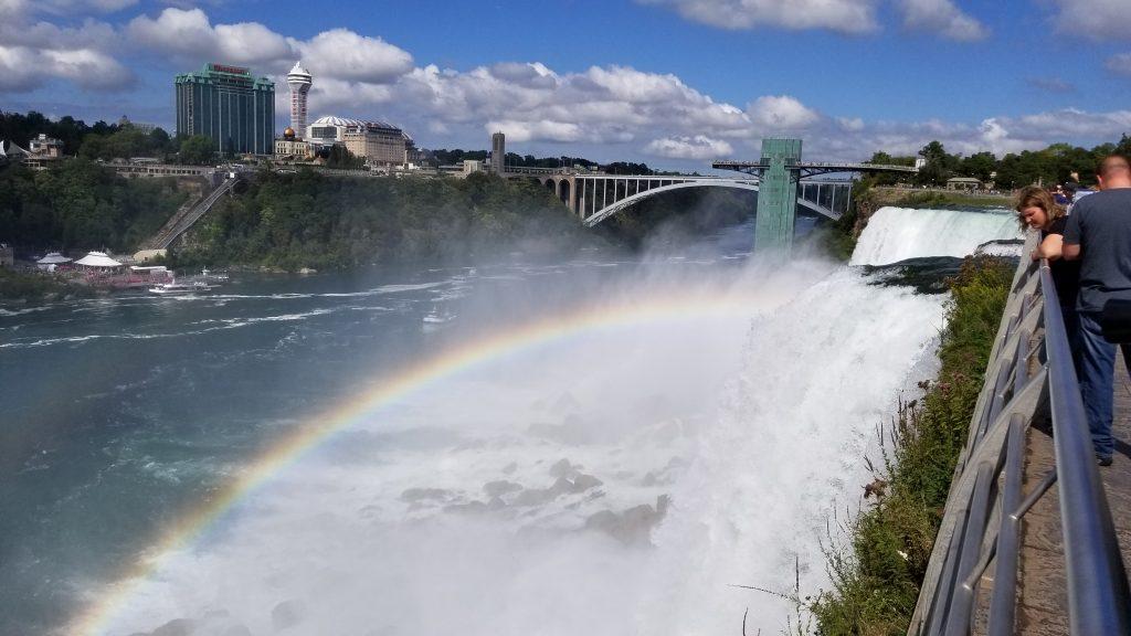 Rainbow over Bridal Veil Falls.