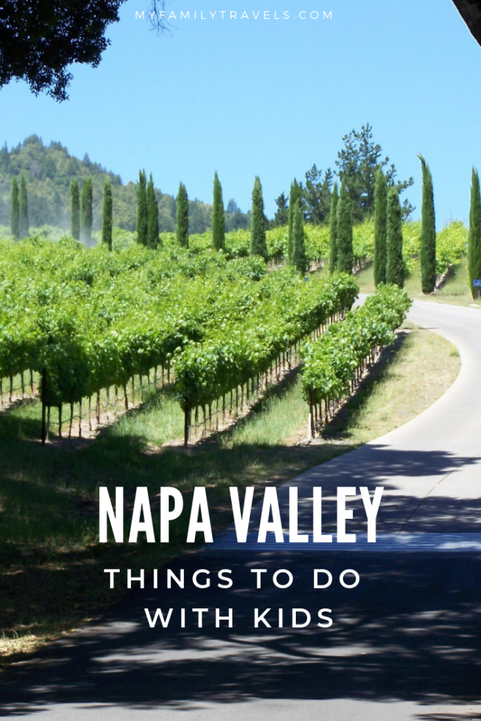 Enjoy Napa Valley with the kids Pin.