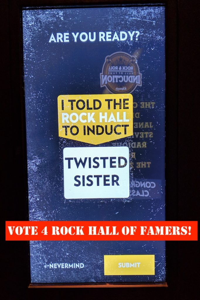 Vote for the next class of Hall of Famers when you visit the Rock Hall.
