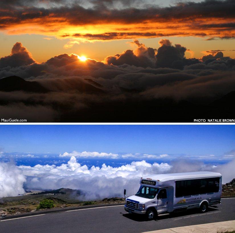 Haleakala at sunrise.