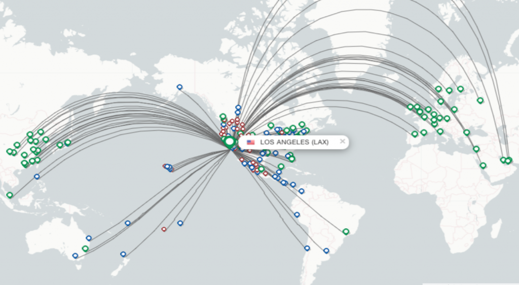 FlightsFrom.com route map.