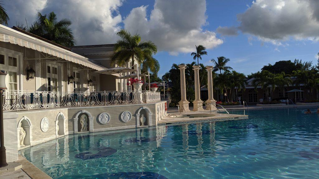 Quiet pool at Sandals Royal Bahamian