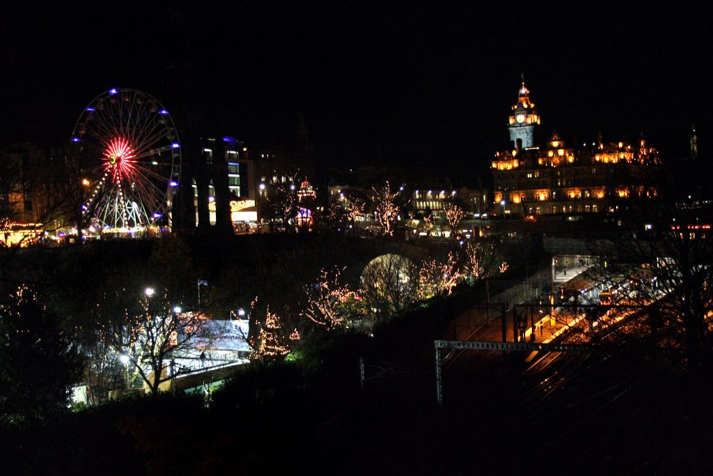 Edinburgh lights up for the holidays.