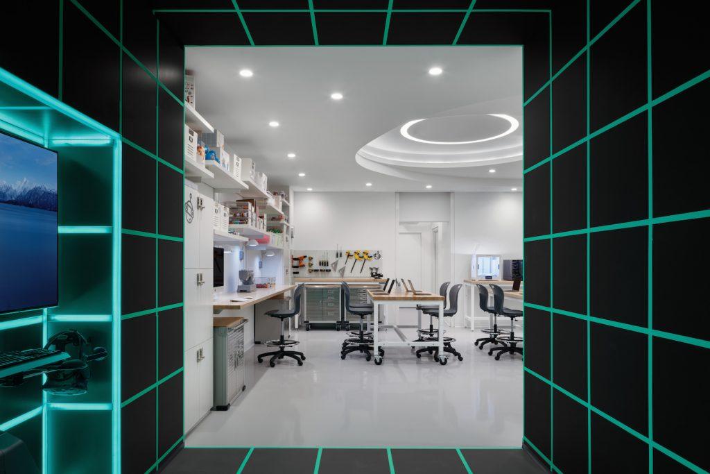 VR Room and Sandbox Maker Studio at Zaha Hadid Apartments in New York.