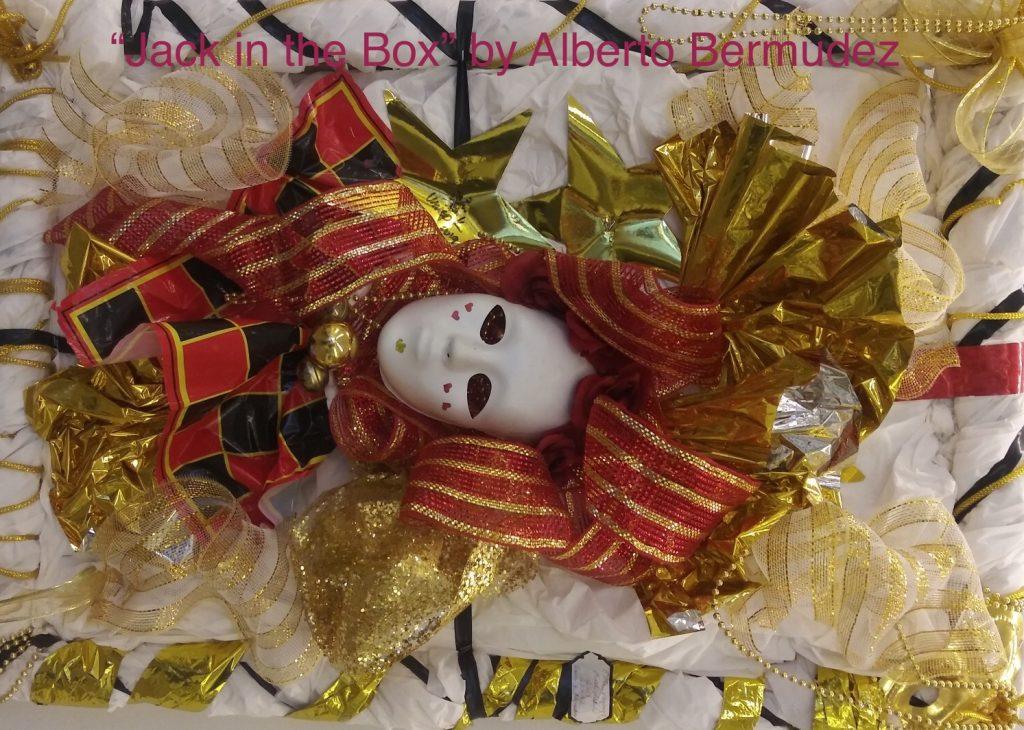 Jack in the Box sculpture by Alberto Bermudez