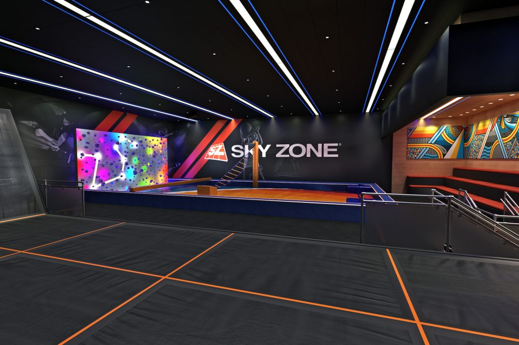 SkyZone trampoline park on Carnival Panorama cruise ship