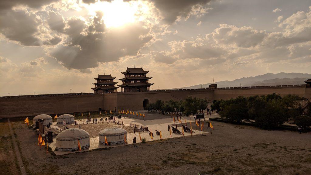 Mongol encampment at Jiayuguan Pass, China