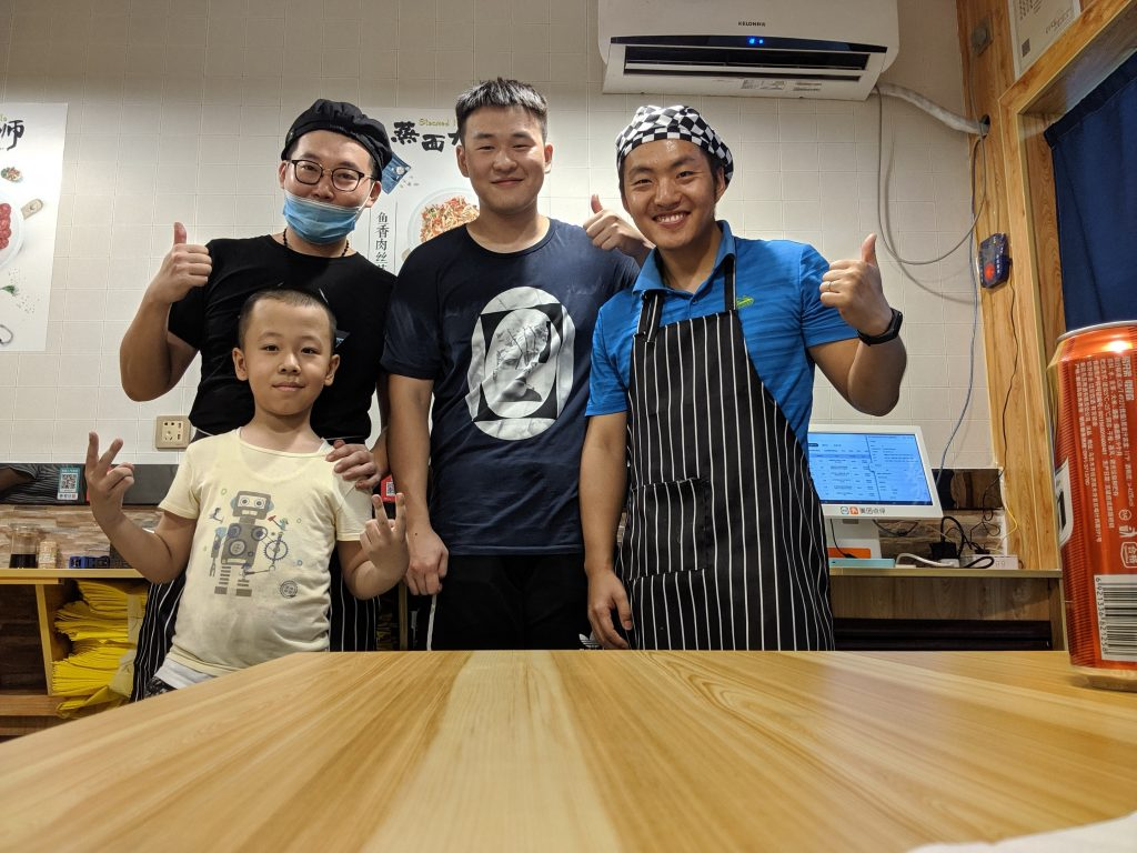 The Steamed Noodle Master team in Urumqi