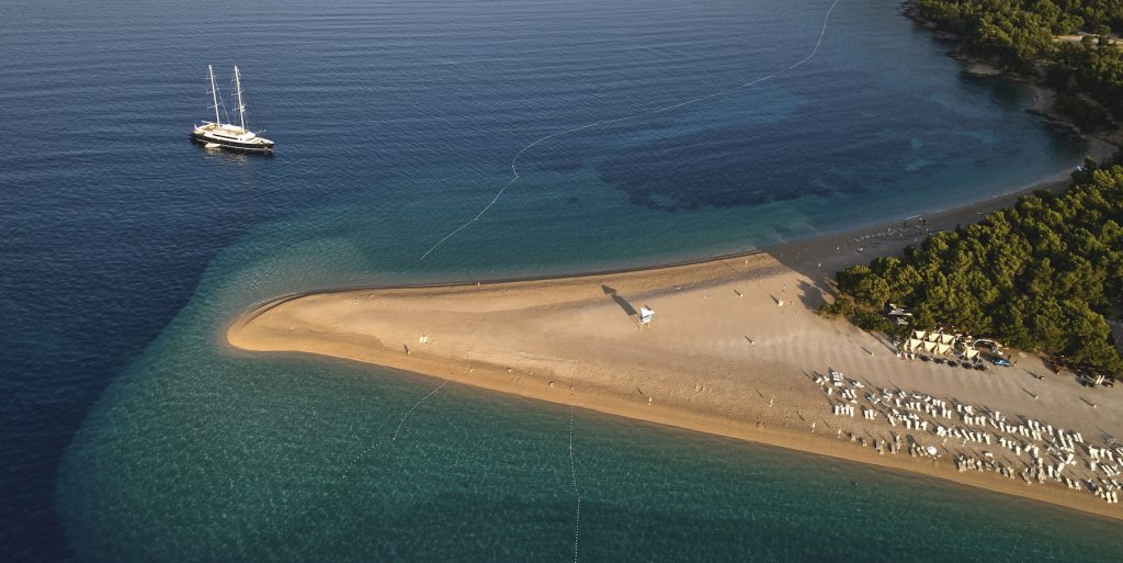 Brac Island has some of the most beautiful beaches and is one of the best places to sail in Croatia.