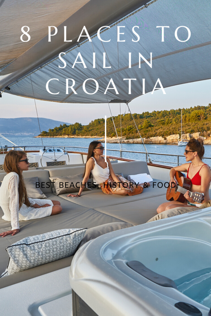 Relxing on the deck of a goolet yacht off shore of Croatia, one of the best places to sail.