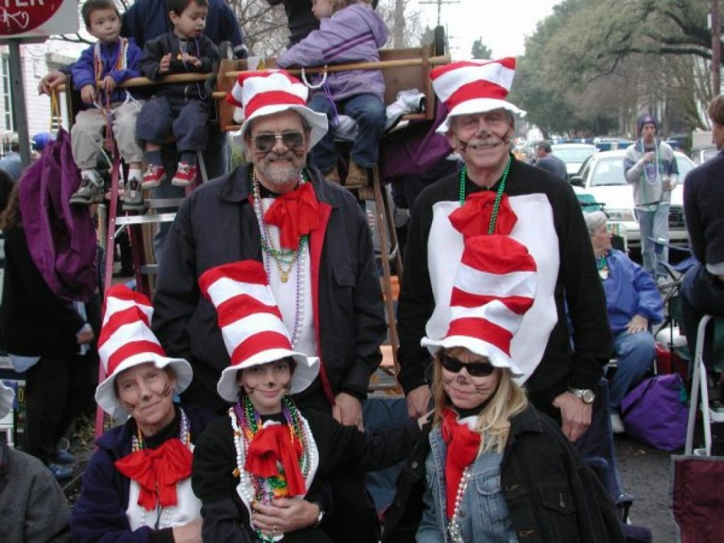 Cat in the Hat costumes at Mardi Gras in New Orleans