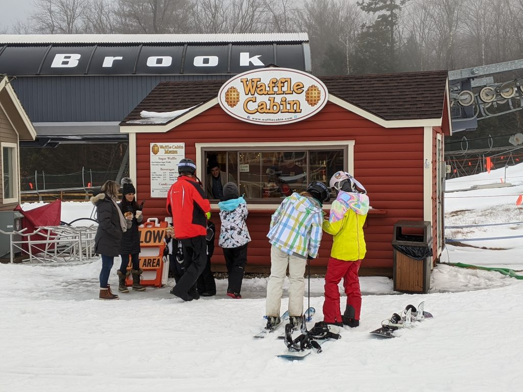 Waffle cabin on the slopes of Okemo Mountain, Vermont