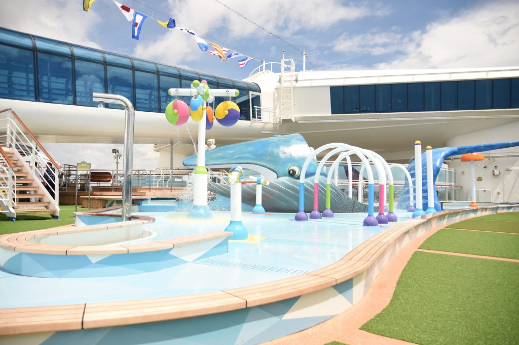 The Reef splash zone on Princess cruise ships.