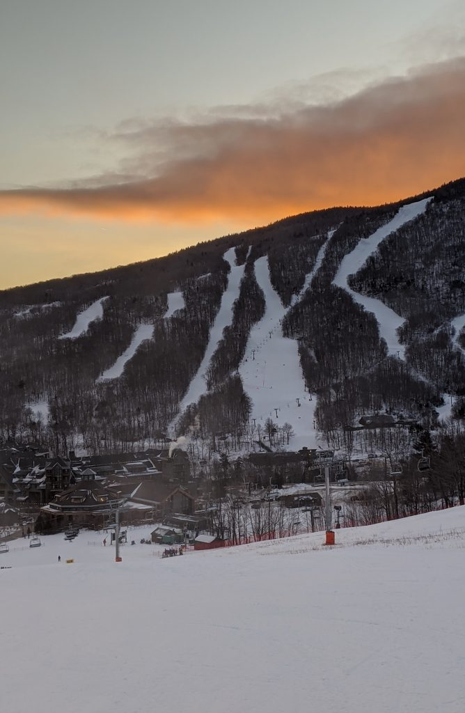 Stowe's famous Front Four Runs on Mount Mansfield.